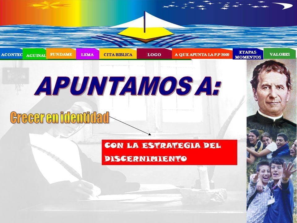 EL PROYECTO EDUCATIVO - PASTORAL SALESIANO (PEPS) APUNTAMOS A: