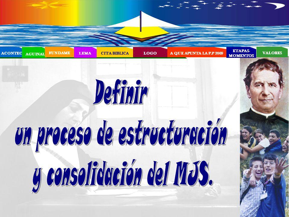 un proceso de estructuración y consolidación del MJS.