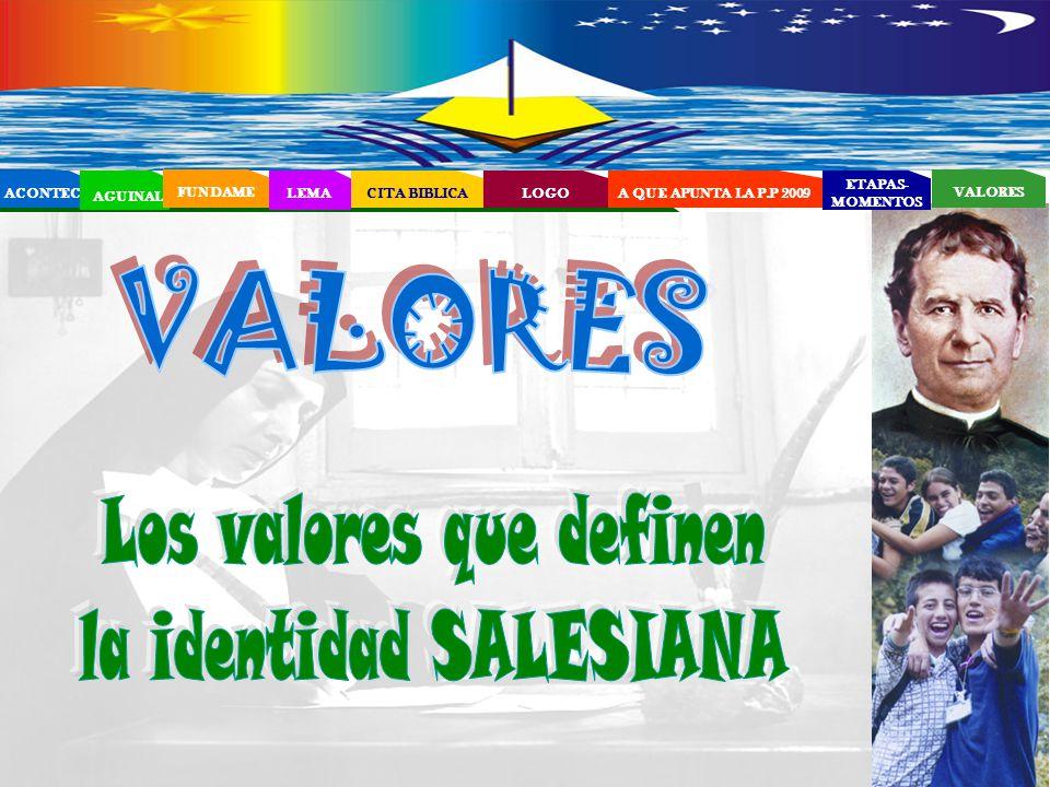 Los valores que definen la identidad SALESIANA