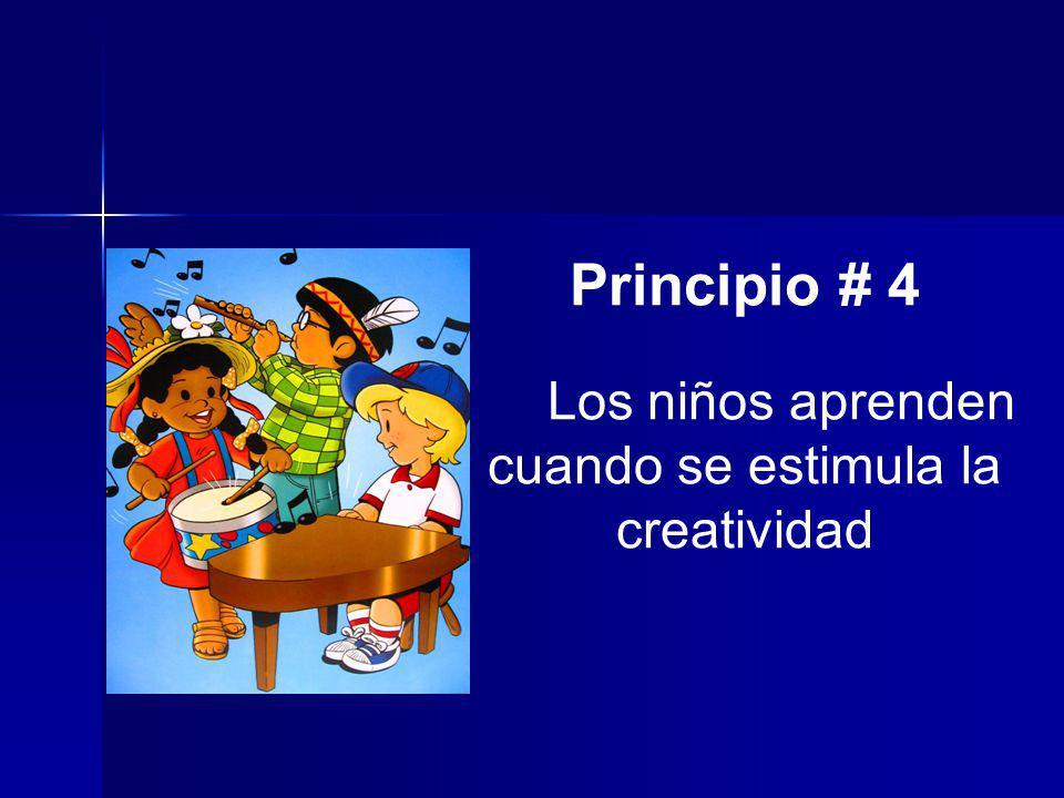 Los niños aprenden cuando se estimula la creatividad
