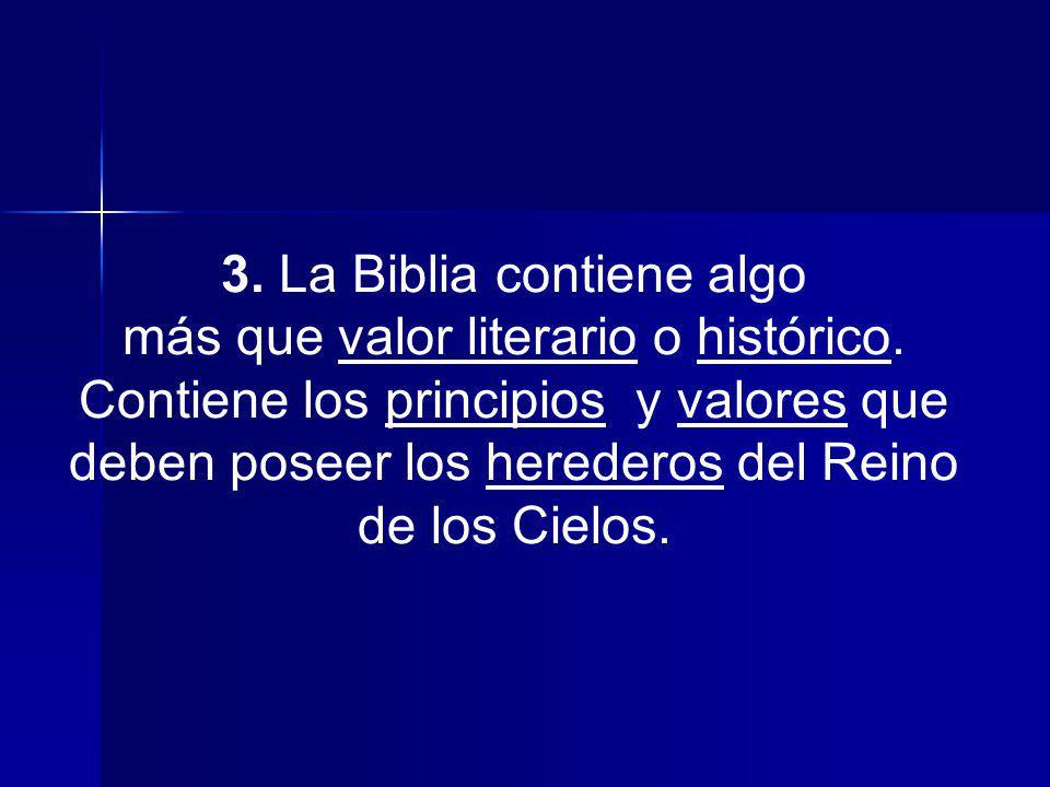 3. La Biblia contiene algo