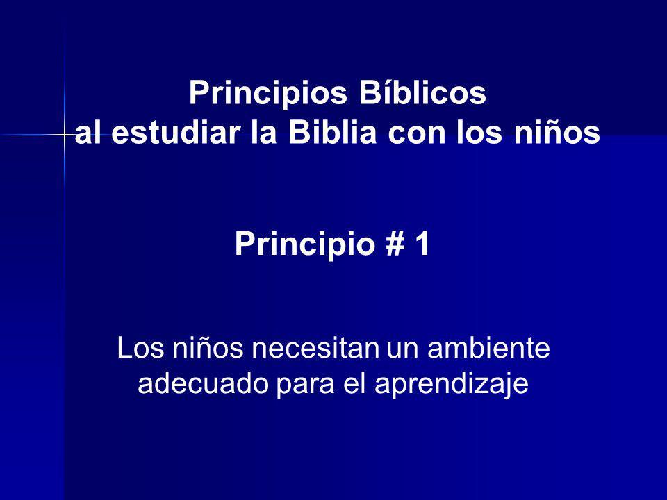 al estudiar la Biblia con los niños