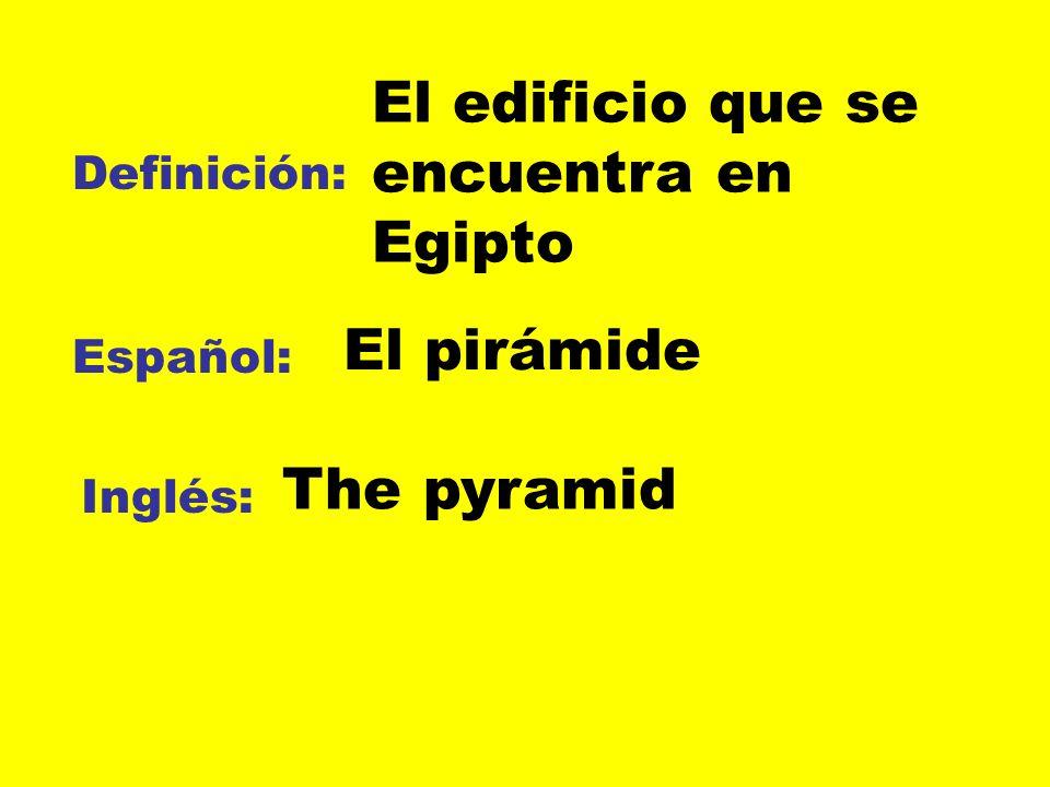 El edificio que se encuentra en Egipto