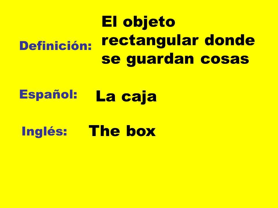 El objeto rectangular donde se guardan cosas