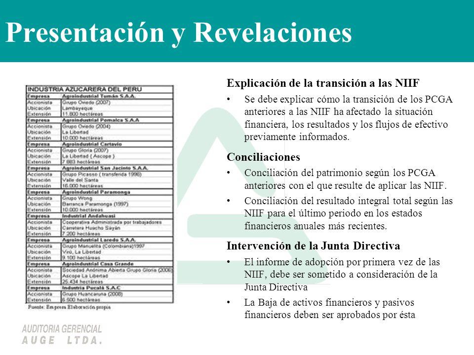 Presentación y Revelaciones