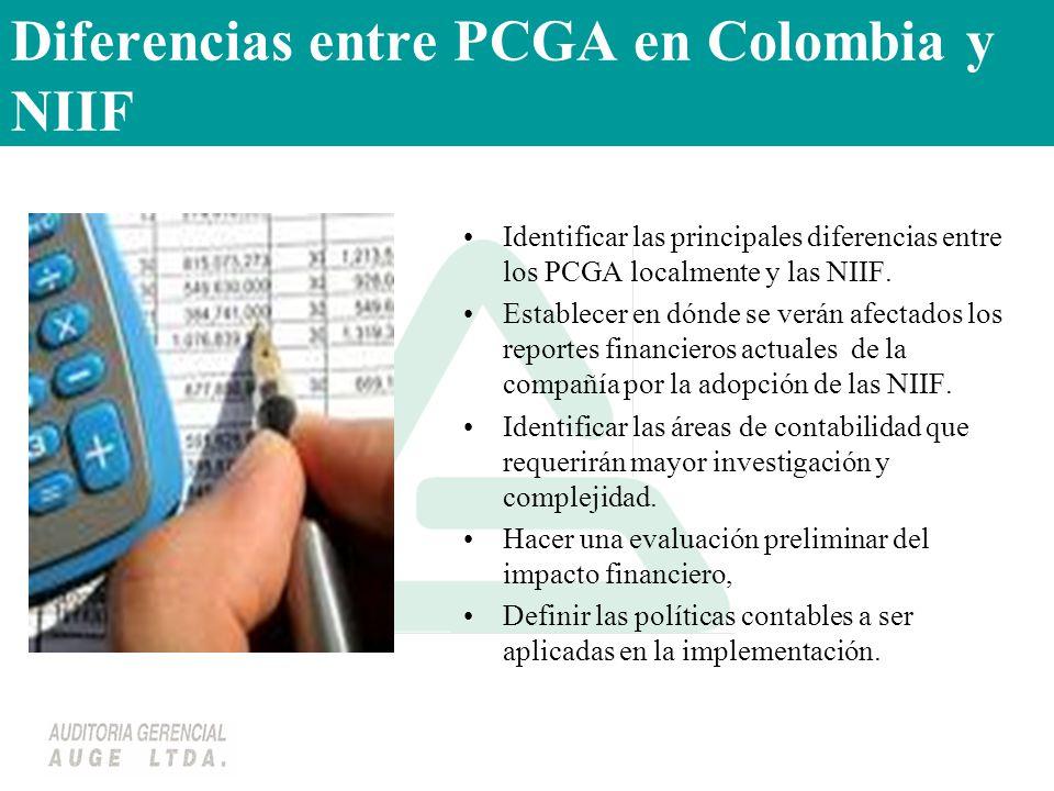 Diferencias entre PCGA en Colombia y NIIF