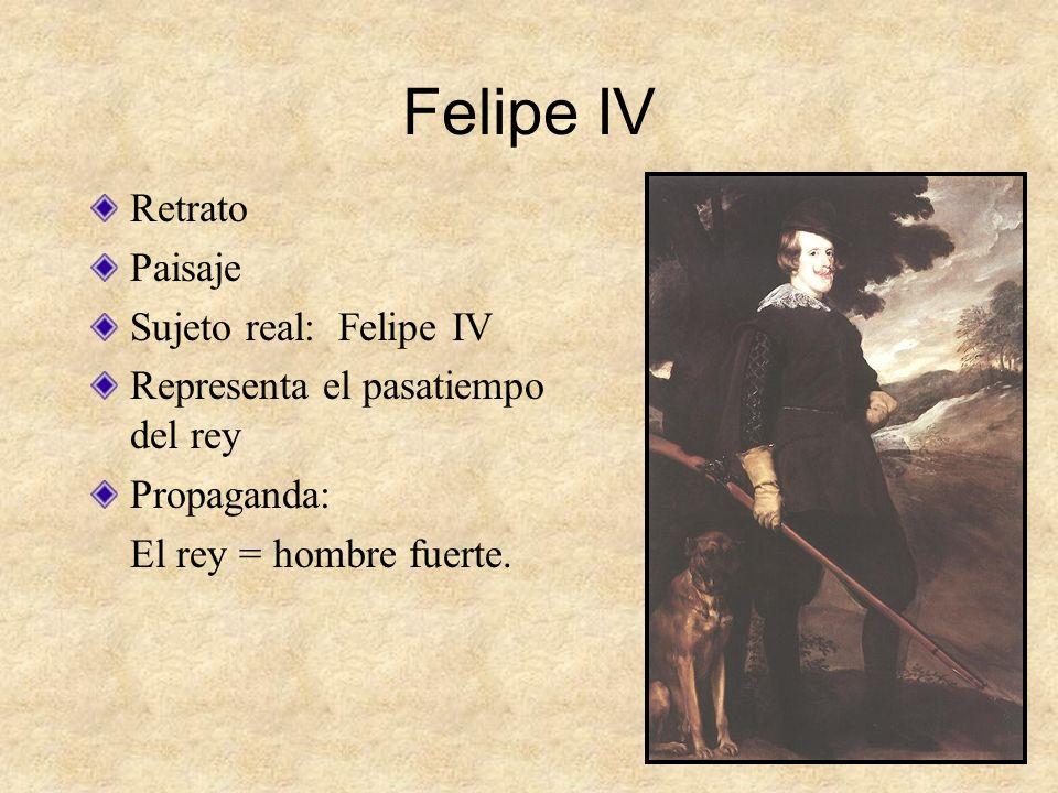 Felipe IV Retrato Paisaje Sujeto real: Felipe IV