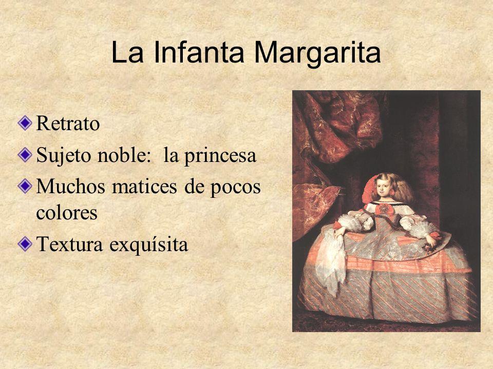 La Infanta Margarita Retrato Sujeto noble: la princesa