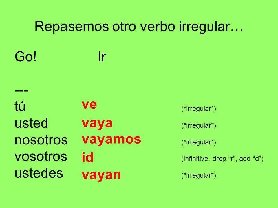 Repasemos otro verbo irregular…