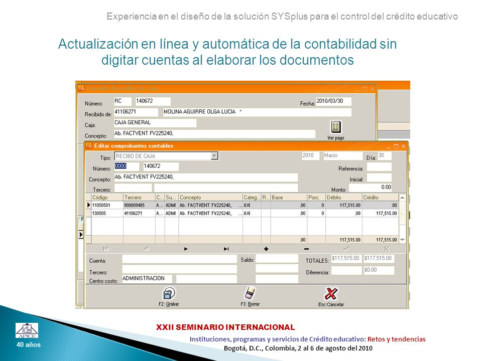 Experiencia en el diseño de la solución SYSplus para el control del crédito educativo