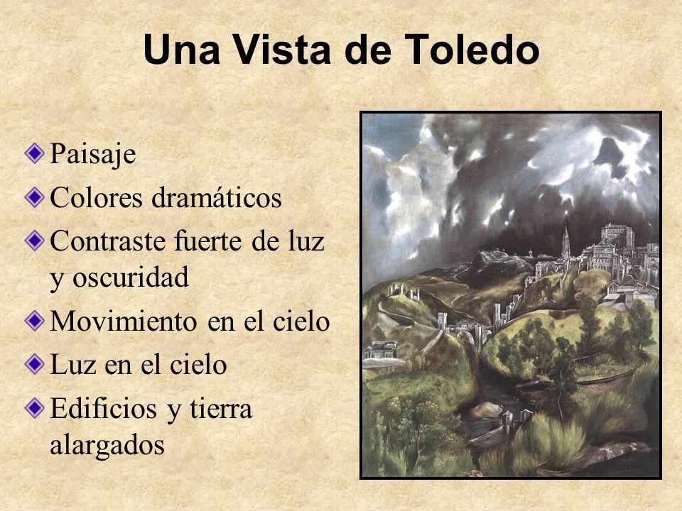 Una Vista de Toledo Paisaje Colores dramáticos