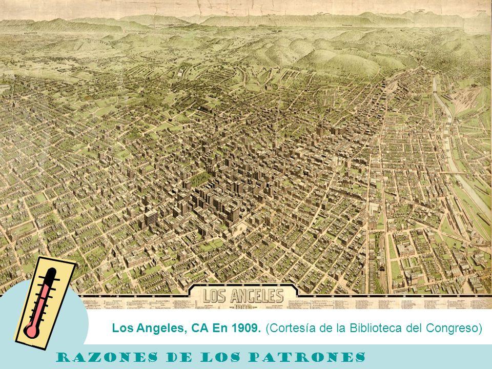 Los Angeles, CA En 1909. (Cortesía de la Biblioteca del Congreso)