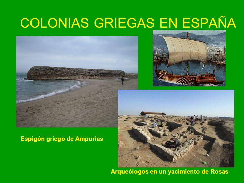COLONIAS GRIEGAS EN ESPAÑA