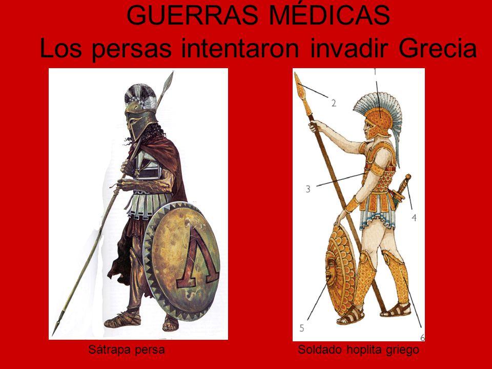 GUERRAS MÉDICAS Los persas intentaron invadir Grecia