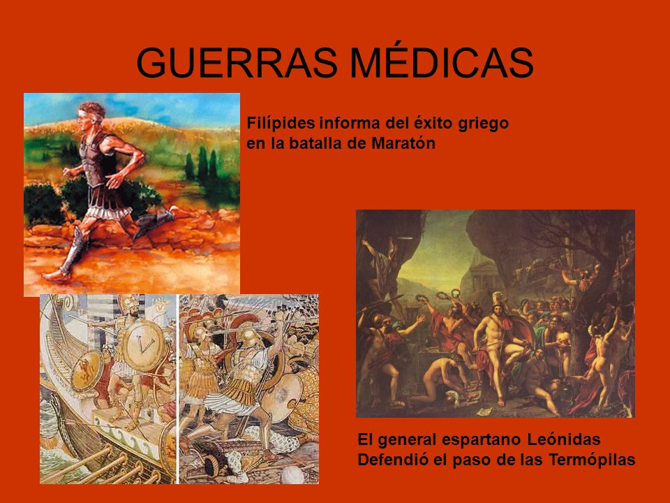 GUERRAS MÉDICAS Filípides informa del éxito griego