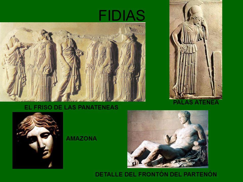FIDIAS PALAS ATENEA EL FRISO DE LAS PANATENEAS AMAZONA