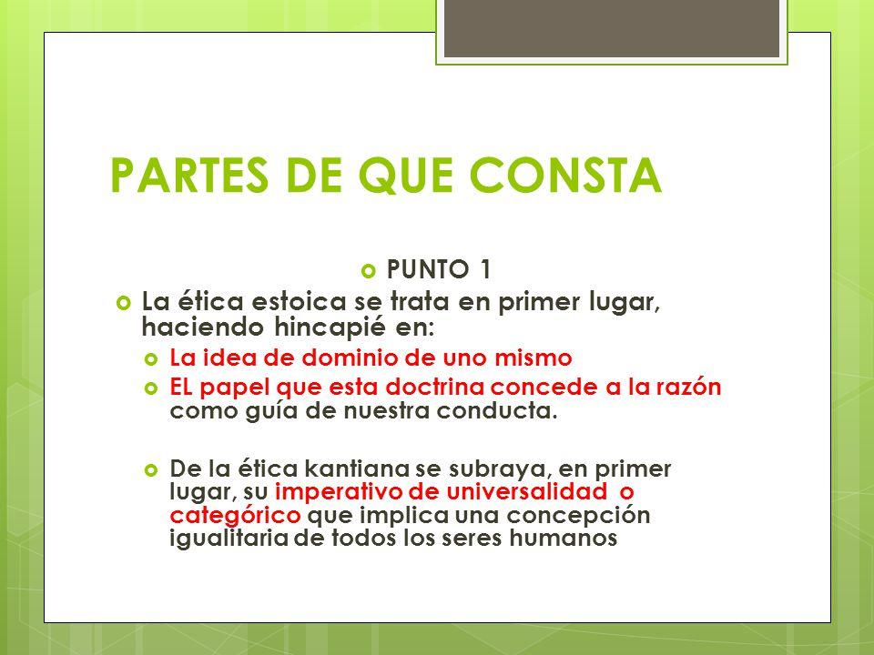 PARTES DE QUE CONSTA PUNTO 1