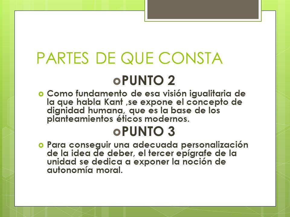 PARTES DE QUE CONSTA PUNTO 2 PUNTO 3