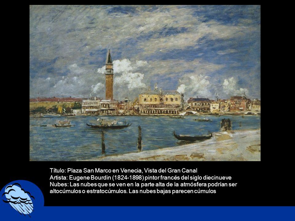 Título: Plaza San Marco en Venecia, Vista del Gran Canal