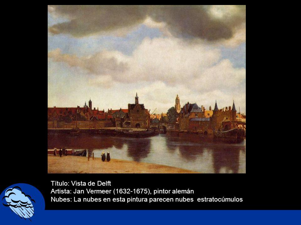 Título: Vista de DelftArtista: Jan Vermeer (1632-1675), pintor alemán.