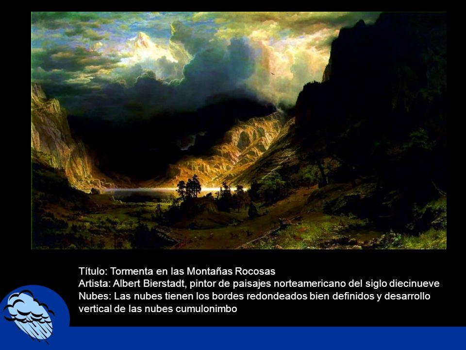 Título: Tormenta en las Montañas Rocosas