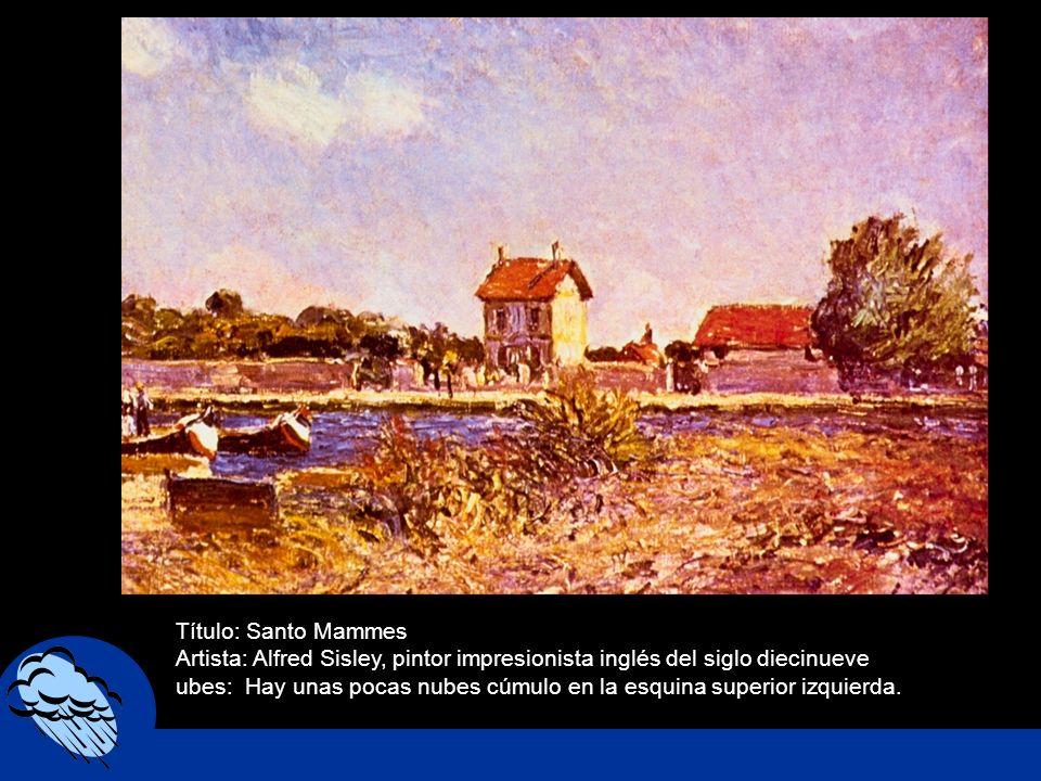 Título: Santo Mammes Artista: Alfred Sisley, pintor impresionista inglés del siglo diecinueve.