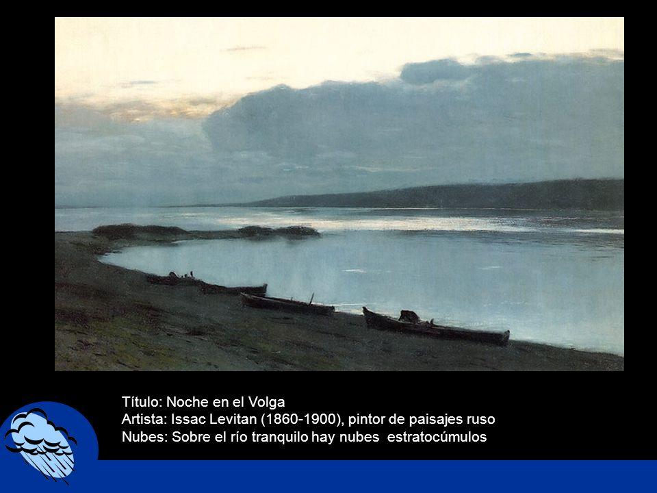 Título: Noche en el Volga
