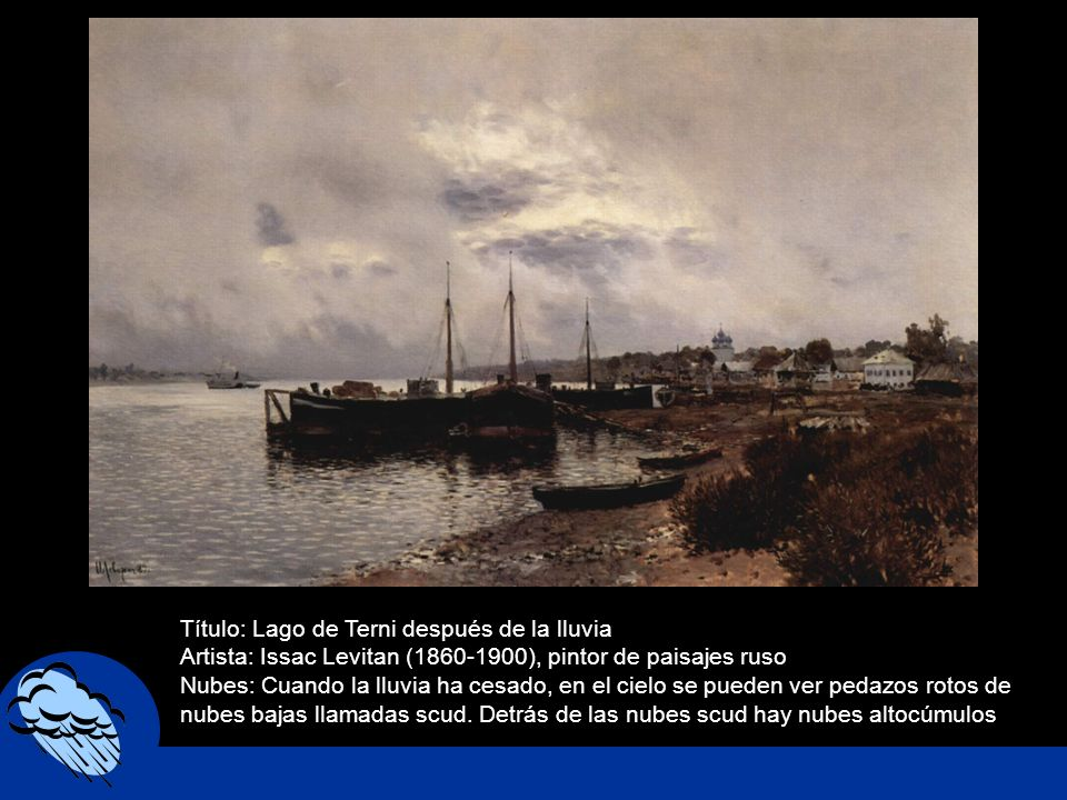 Título: Lago de Terni después de la lluvia