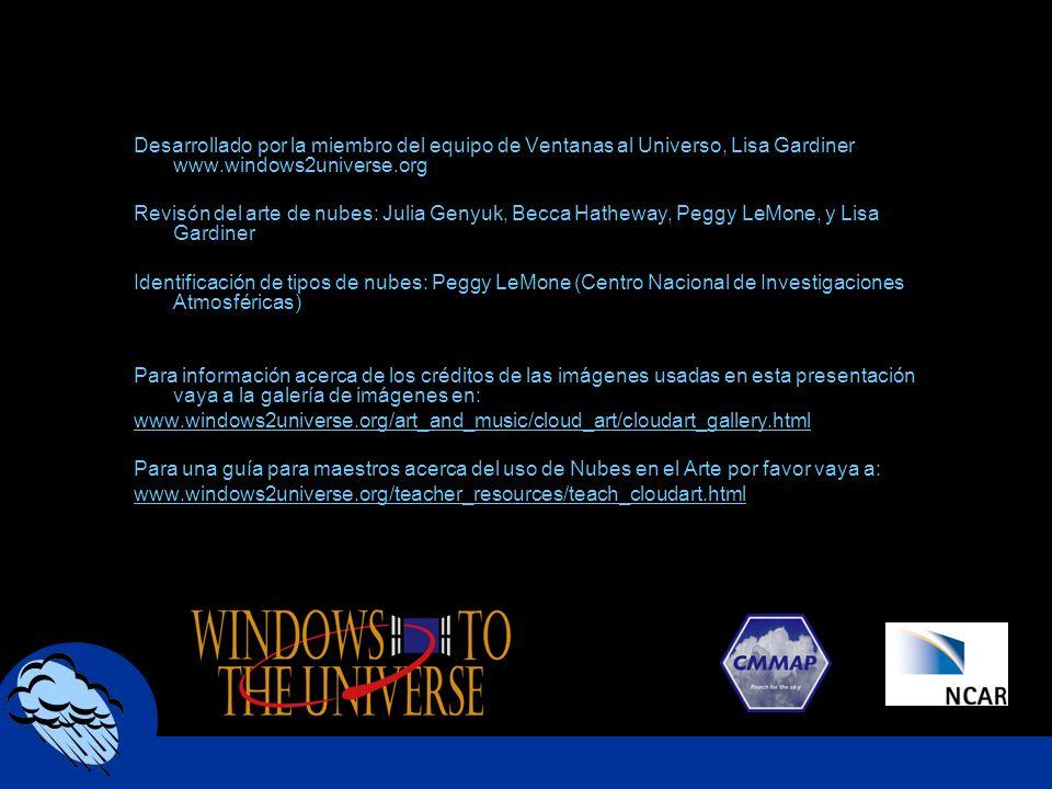 Desarrollado por la miembro del equipo de Ventanas al Universo, Lisa Gardiner www.windows2universe.org