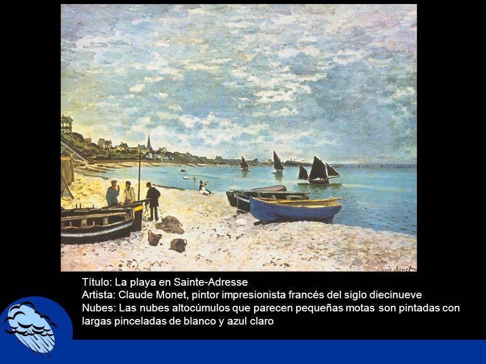 Título: La playa en Sainte-Adresse