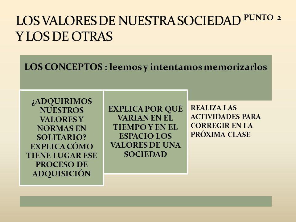 LOS VALORES DE NUESTRA SOCIEDAD Y LOS DE OTRAS