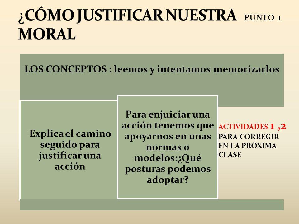 ¿CÓMO JUSTIFICAR NUESTRA MORAL