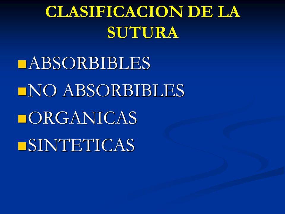 CLASIFICACION DE LA SUTURA