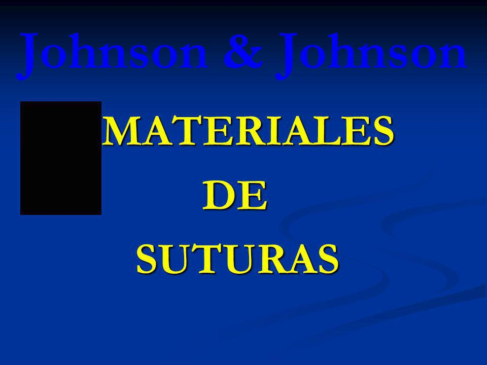 Johnson & Johnson MATERIALES DE SUTURAS