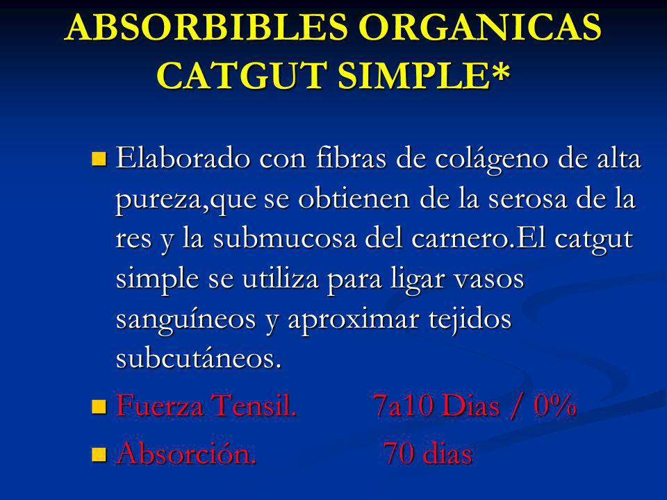 ABSORBIBLES ORGANICAS CATGUT SIMPLE*