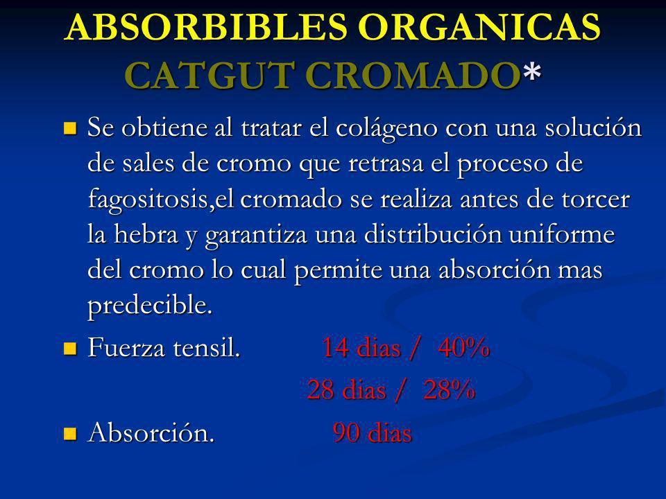 ABSORBIBLES ORGANICAS CATGUT CROMADO*