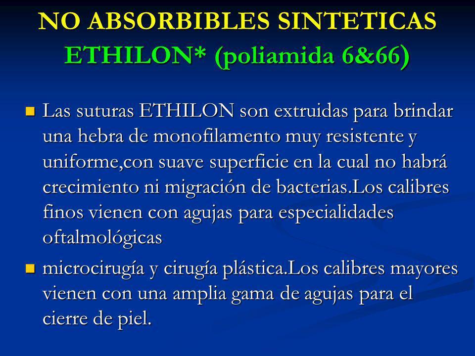 NO ABSORBIBLES SINTETICAS ETHILON* (poliamida 6&66)