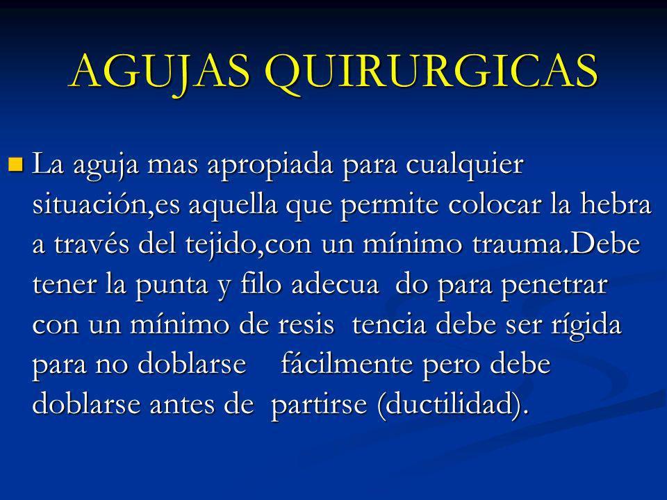 AGUJAS QUIRURGICAS