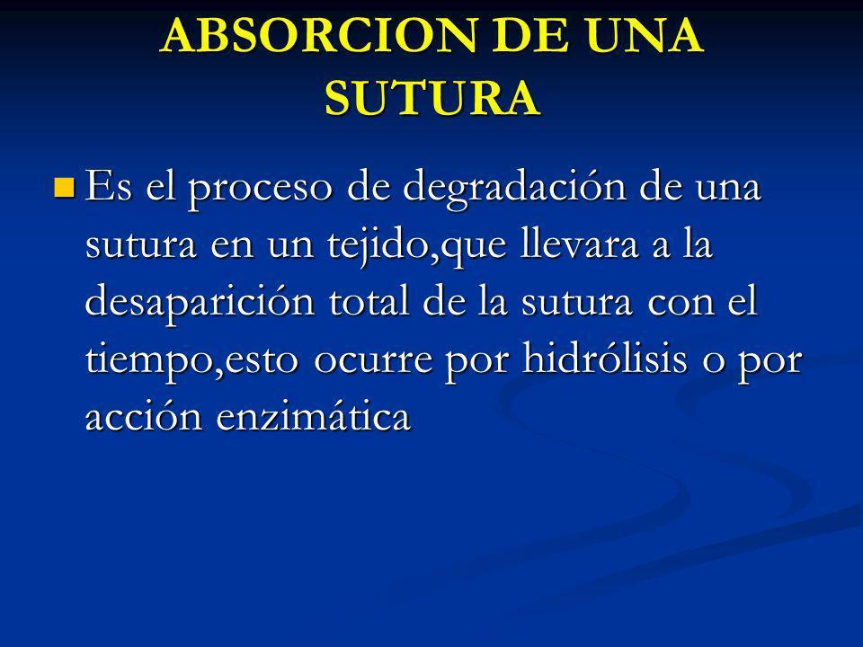 ABSORCION DE UNA SUTURA