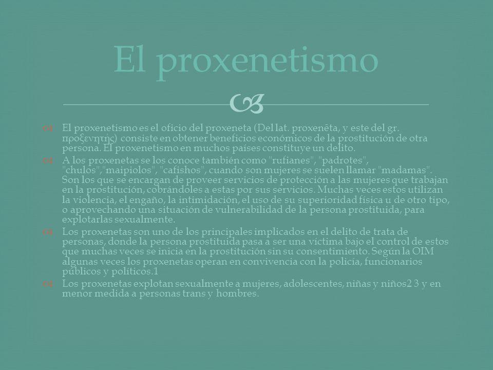 El proxenetismo