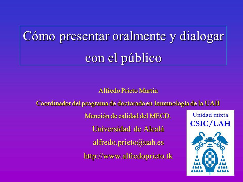 Cómo presentar oralmente y dialogar con el público