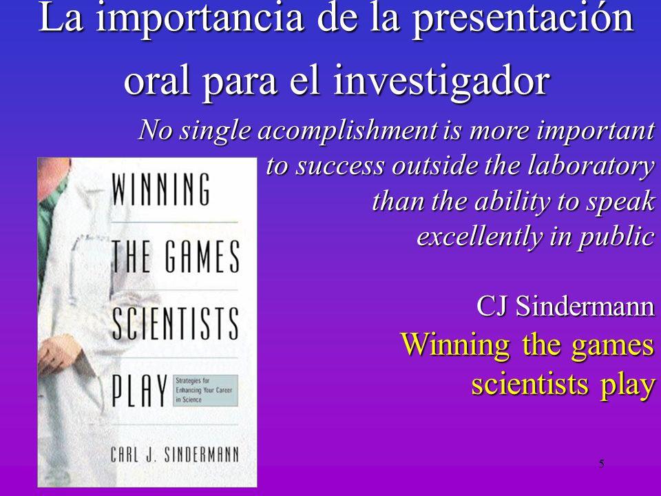 La importancia de la presentación oral para el investigador