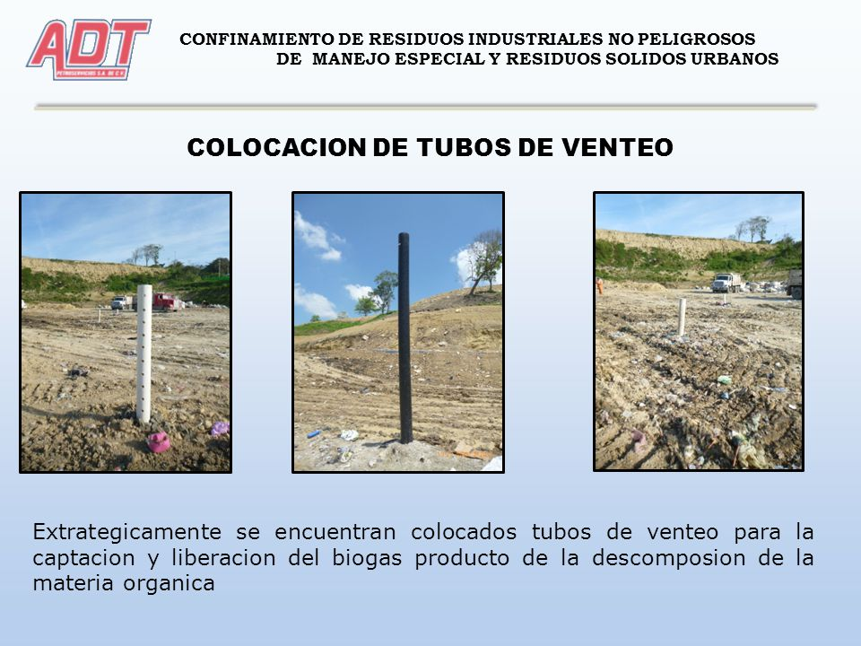 COLOCACION DE TUBOS DE VENTEO
