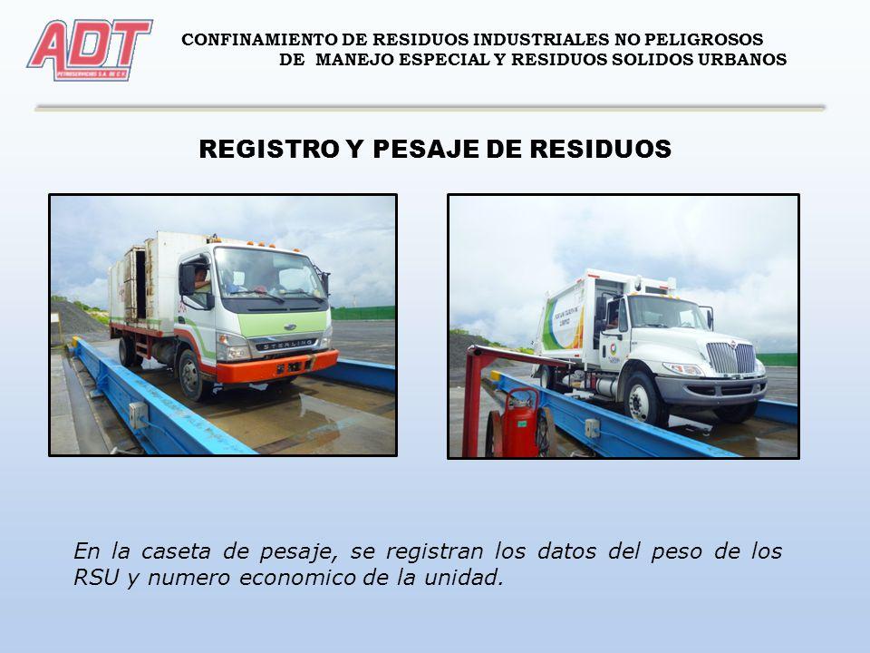 REGISTRO Y PESAJE DE RESIDUOS