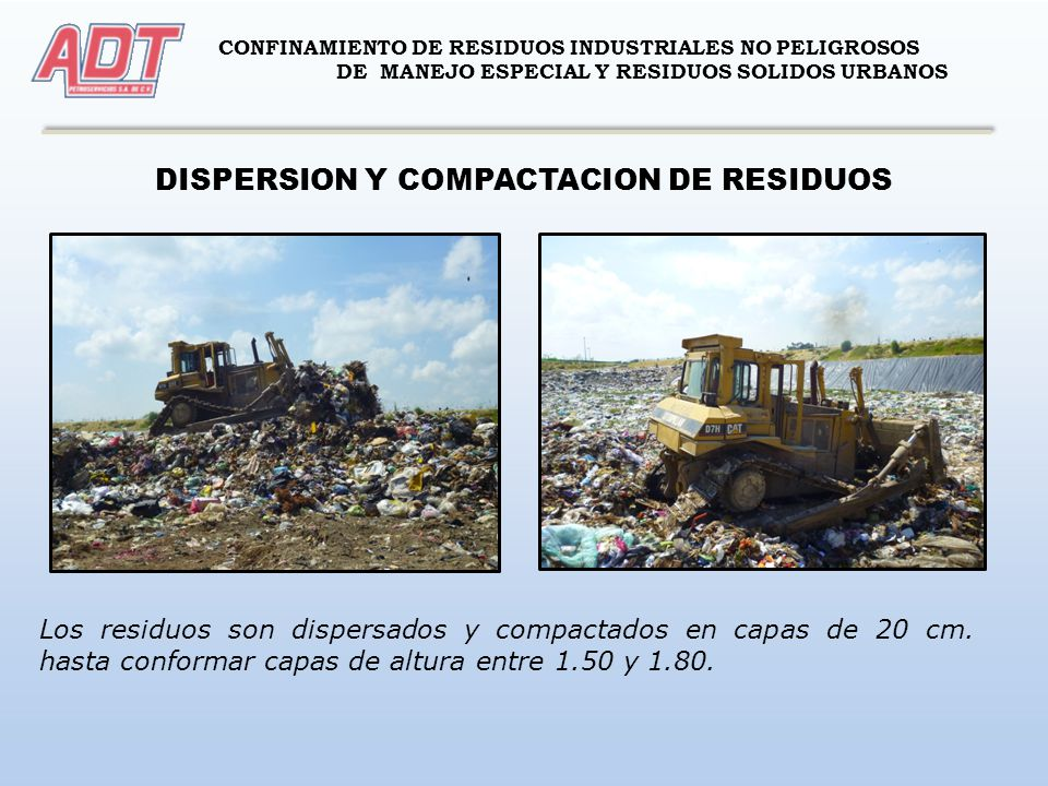 DISPERSION Y COMPACTACION DE RESIDUOS