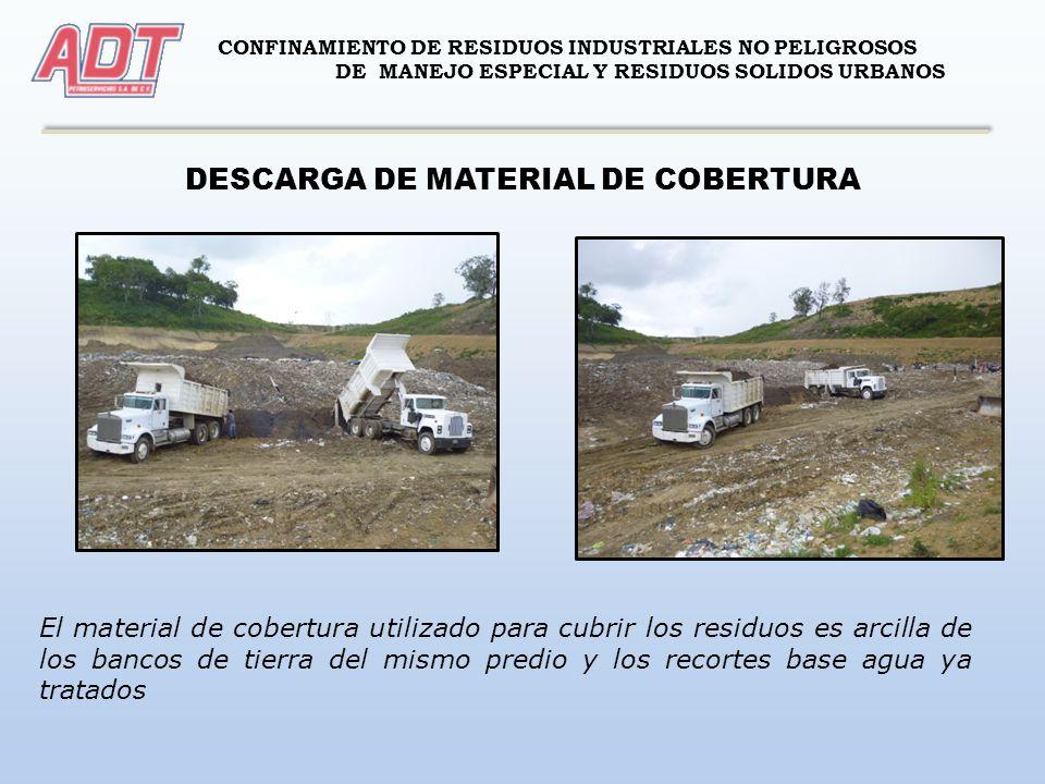 DESCARGA DE MATERIAL DE COBERTURA