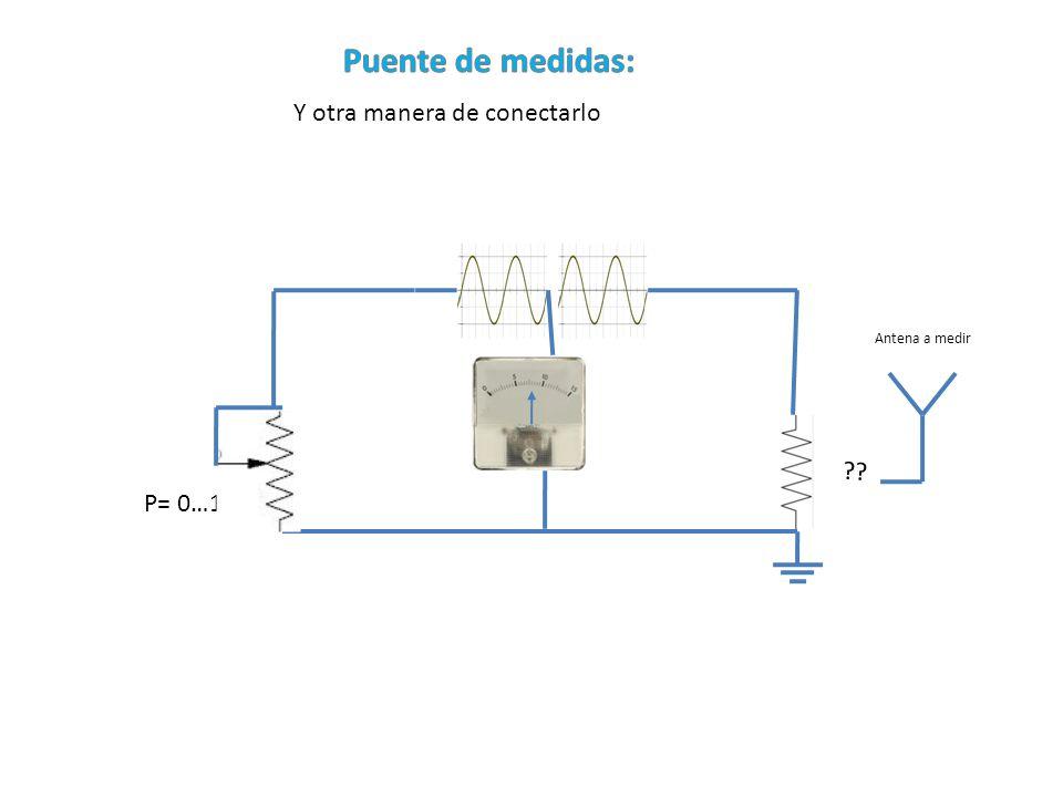 Puente de medidas: Y otra manera de conectarlo P= 0…100