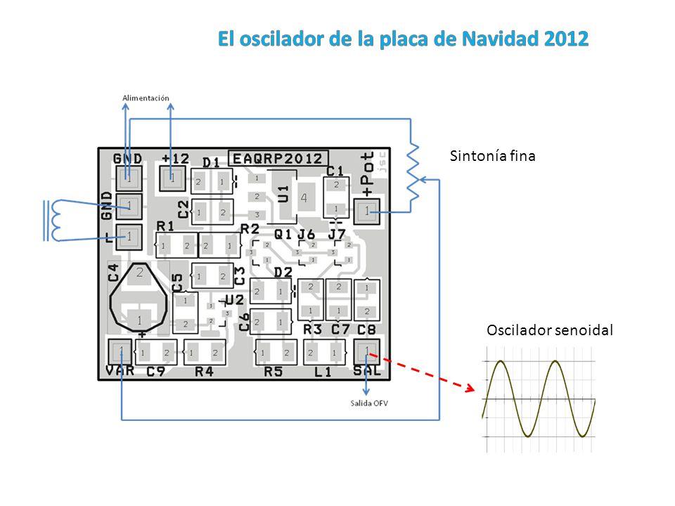 El oscilador de la placa de Navidad 2012