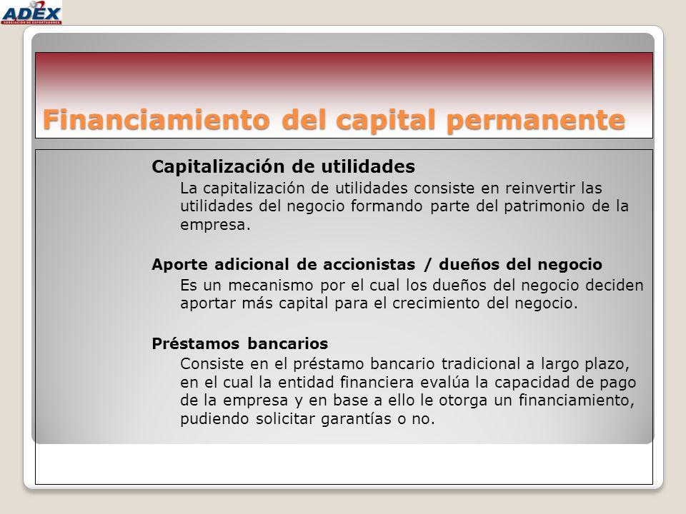 Financiamiento del capital permanente