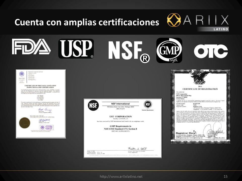 Cuenta con amplias certificaciones